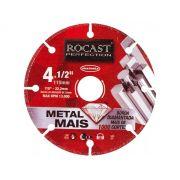 Disco De Corte Diamantado Rocast 4.1/2 - 115mm 1 Mil Cortes