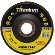 "Disco Flap 4.5 X 7/8"" Titanium Oxido de Alumínio"