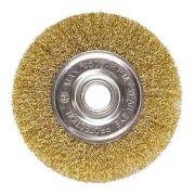 Escova De Aço Fio Ondulado Tipo Circular 100mm Mtx