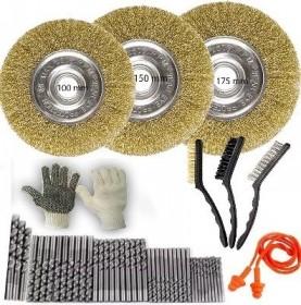 Escova De Aço Tipo Circular 100, 150 E 175mm + Brindes