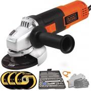 Esmerilhadeira Lixadeira Forte 4.1/2 820w 115mm Super Brinde 110V