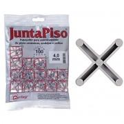 Espaçador De Junta De Piso 4mm 100 Peças Cinza Cortag