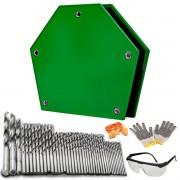 Esquadro Magnético Inversora Soldagem 25kg/ 40 Brocas Brinde