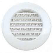 Grade De Ventilação Plástica 100mm Branca Com Tela Anti Inseto