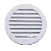 Grade De Ventilação Plástica 150mm Branca Com Tela