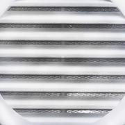 Grade De Ventilação Plástica 200mm Branca Com Tela
