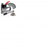 Grampeador E Pinador Manual Metal C/ajuste Pressão + Brinde