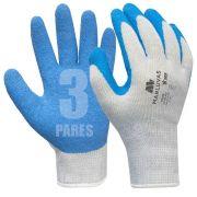3 Luvas De Proteção Ergonômica Multitarefa Flex Tuff - GG
