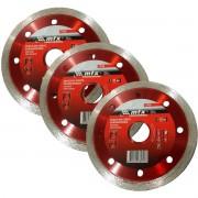 Kit 3un Disco De Corte Diamantado Cont 180X25,4MM MTX