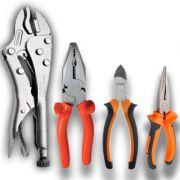 Kit 4 Alicates universal, Bico, Corte de Aço e De Pressão (CABO PVC)