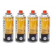 kit 4 Refil de gas butano para fogareiro e maçarico 227g ntk