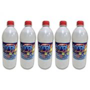 Kit 5 Álcool Gel 70% Etílico Hidratado Ação Bactericida e Germicida 900ml