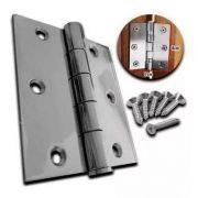 Kit 5 Dobradiças Reforçada Para Portão E Portas Aço Carbono