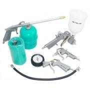 Kit 5 Peças Pistola Pintura Acessórios Compressor Stels