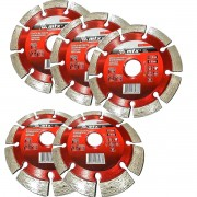 Kit 5un Disco De Corte Diamantado 115x22,2mm Segmentado Mtx