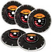 Kit 5un Disco De Corte Diamantado 180x22,2mm Segmentado Sparta