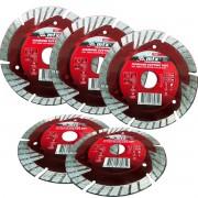 Kit 5un Disco Diamantado Segmentado 115x22,2mm, Corte A Seco/ Mtx