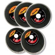 Kit 5un Disco Diamantado Turbo Sparta 115x22,2mm 4,5 Polegadas