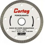 Kit 5x Disco Diamantado Cortag 110mm F20mm  Porcelanato Gold