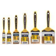 Kit 6 Pincel Trincha Para Verniz E Stain Dupla 1 ao 4 Pol