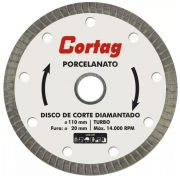 Kit 6x Disco Diamantado Cortag 110mm F20mm  Porcelanato Gold