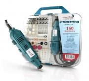 Kit Acessórios Micro Retífica 250w 25000rpm 160 Peças Maleta Polir Lixar Cortar Original Importway