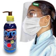 Kit Álcool Em Gel 70 200ml + Protetor Facial FsBrasil