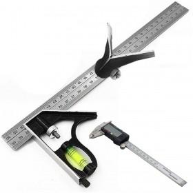 Kit Carpinteiro Esquadro Combinado + Paquimetria Digital