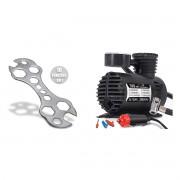 Kit Chave de Bike 10 em 1 + Compressor de Ar Multiuso