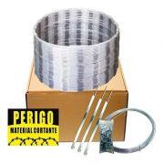 kit concertina para muro C/ 10m x 45cm  Segurança Metal Forte espiral