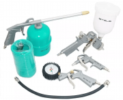 Kit De Acessorios Compressor 5pçs Pistola Pintura Calibrador
