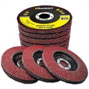 kit disco flap gramatura 60# e 80# 5 unidades de cadada grão