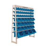 Kit Estante Gaveteiro Organizador 49M Azul