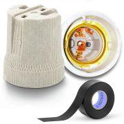 Kit FIta Isolante 5m Starfer C/ Receptáculo Em Porcelana E27