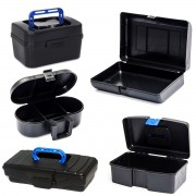 Maletas Plásticas Premium Toolcase P/ Ferramentas Kit C/ 5