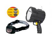 Kit Foco de Mão 12v + Lanterna De Cabeça Dragster Nautika