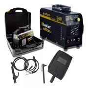 Kit Máquina Inversora De Solda Nitro Potente 140a C/maleta
