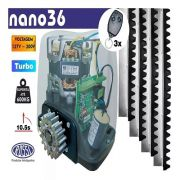 Kit Motor Dz Nano Rossi 1/4 Turbo 5m Crema 3 Controles 127v