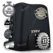 Kit Motor Portão 350kg Dz Atto Turbo 1/5hp 3 Crema 2 Controle 220v