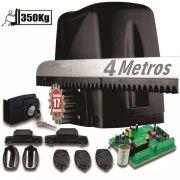 Kit Motor Portão 350kg Dz Atto Turbo 1/5hp 4 Crema 3 Controle 127v