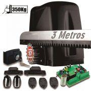 Kit Motor Portão Correr Atto Turbo 1/5hp 3 Crema 3 Controle 220V
