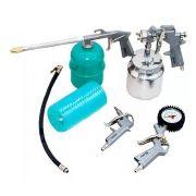 Kit Pistola Pintura Pneumático Compressor Stels Tanque Baixo