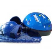 Kit Proteção Infantil Azul Acte Sports Para Ciclismo Bike A61