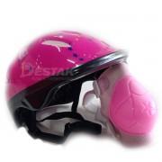 Kit Proteção Infantil Rosa Acte Sports Para Ciclismo Bike A61