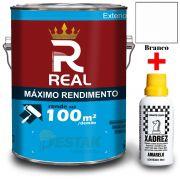 KIT REAL MAXIMO RENDIMENTO BRANCO 3,6L + 01 XADREZ AMARELO 50 ML