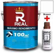 KIT REAL MAXIMO RENDIMENTO BRANCO 3,6L + 01 XADREZ MARROM 50 ML