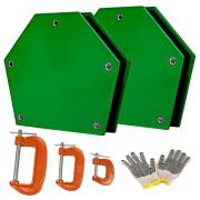 Kit Soldador 4 Esquadro Magnético 12kg Eletrodo Serralheiro