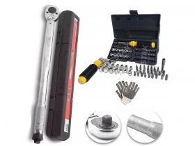 Kit Torquimetro De Estalo, 42-210 Crv Mtx + Jogo Soquetes 40 Pçs