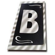 Letra B P/ Identificação Residencial Espelhado Denardi