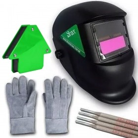 Máscara De Solda Automática Ferramenta Brax+ esquadro e eletrodo